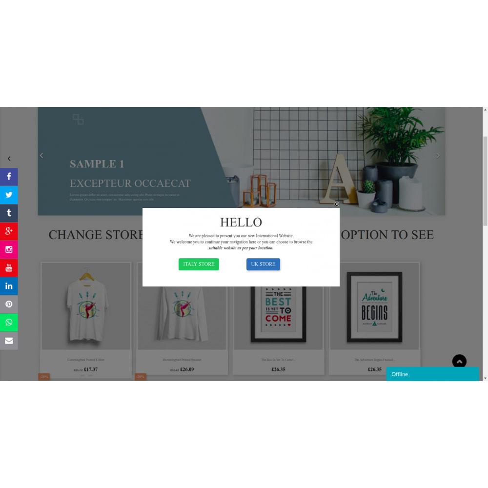 module - Pop-up - Message contextuel et liens basés sur le pays du client - 7
