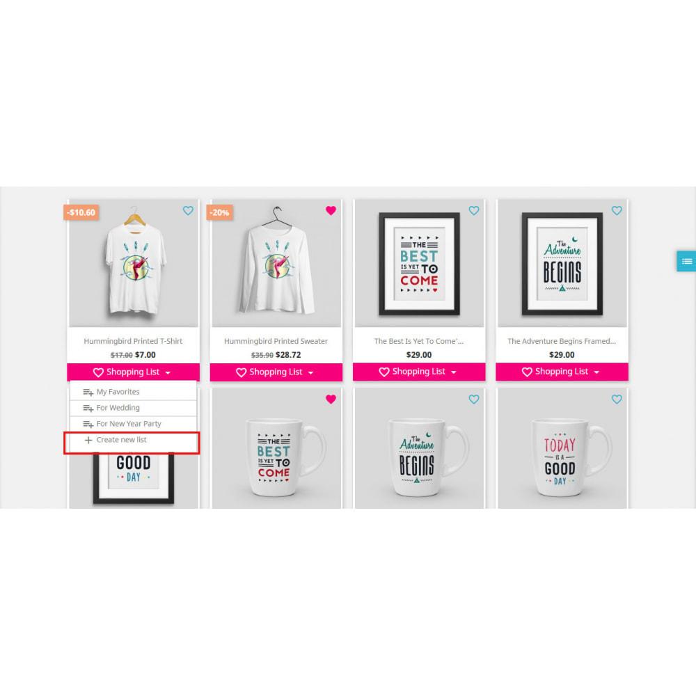 module - Lista życzeń & Karta podarunkowa - Shopping List   Wishlist Buy Later   Favorite Products - 2