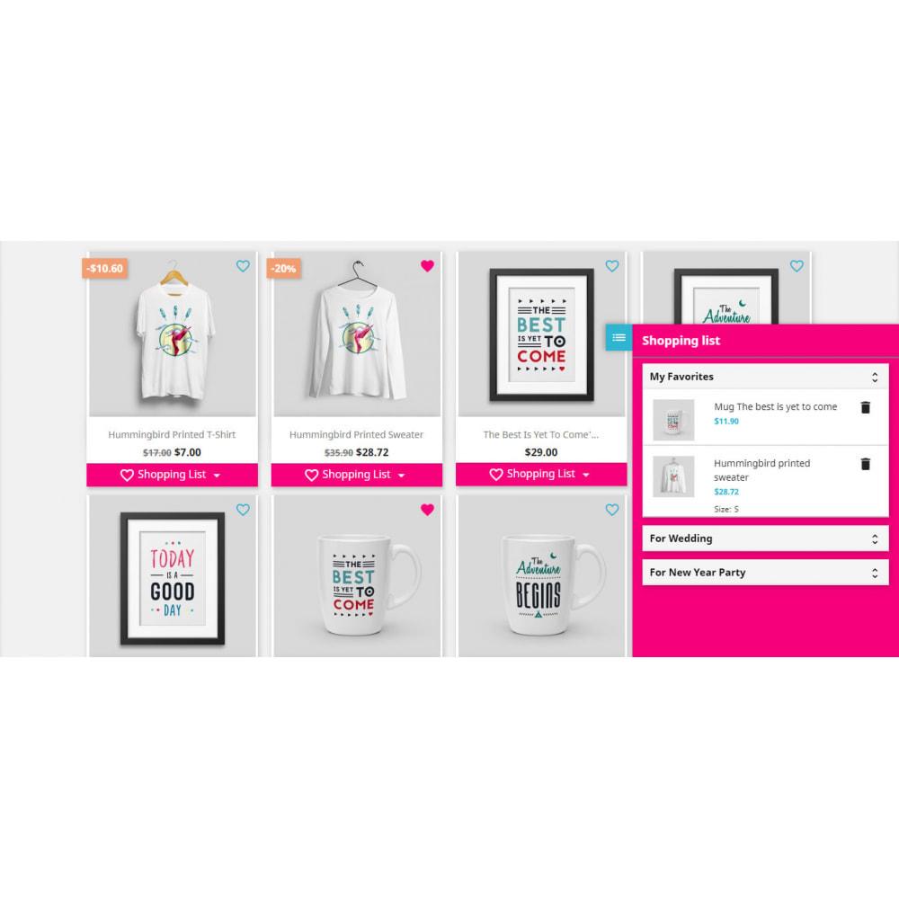 module - Lista życzeń & Karta podarunkowa - Shopping List   Wishlist Buy Later   Favorite Products - 23