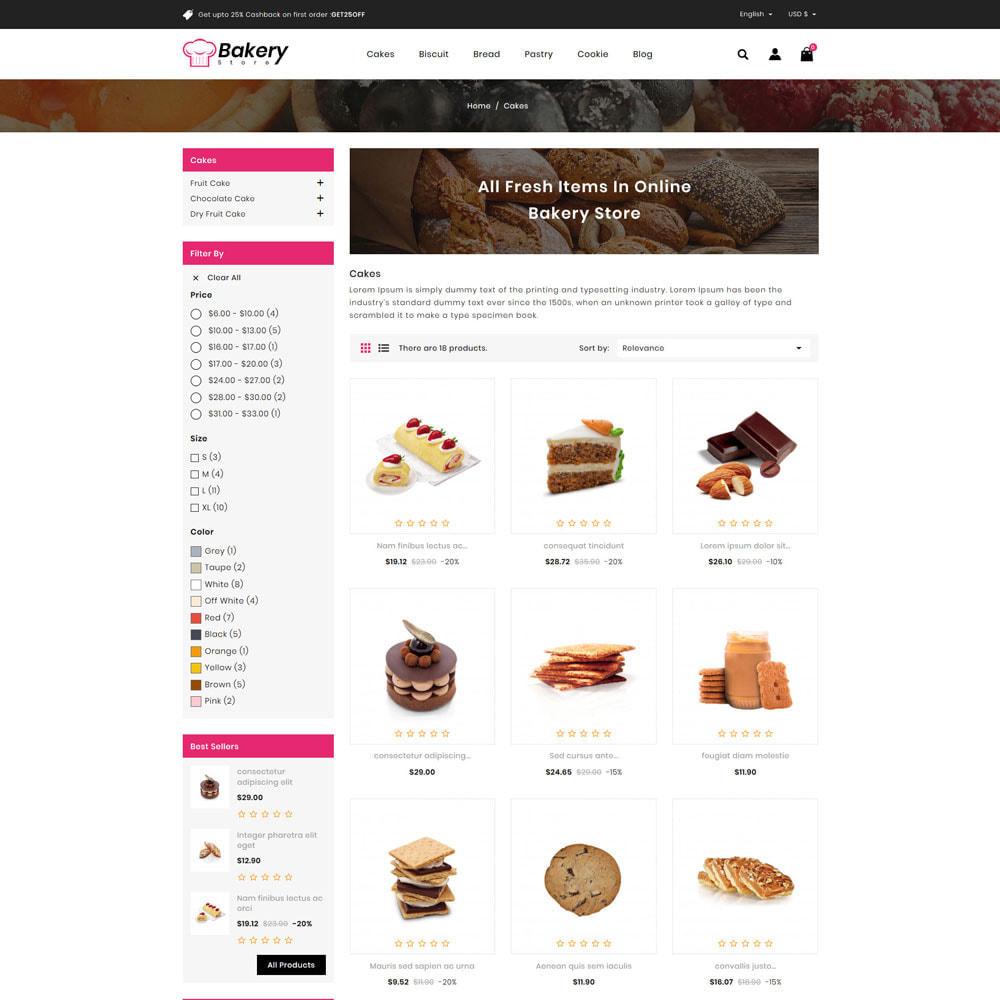 theme - Gastronomía y Restauración - The Bakery Store - 3