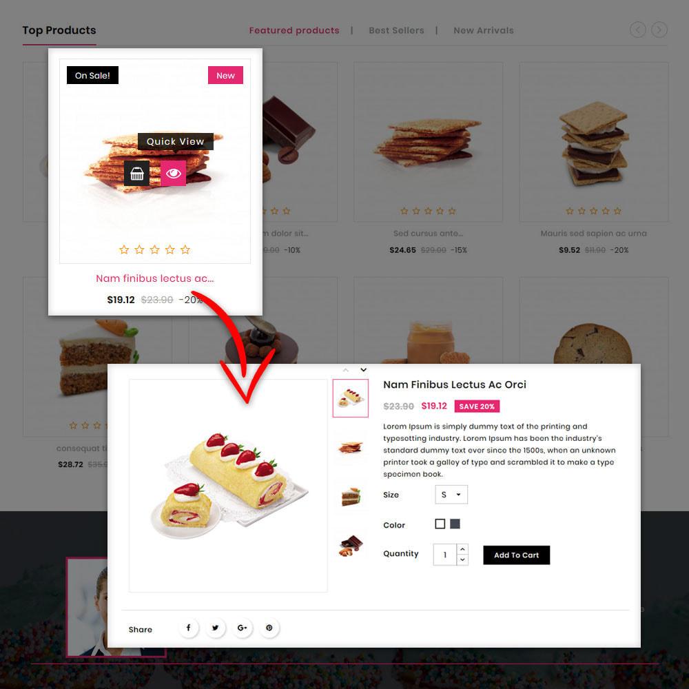 theme - Gastronomía y Restauración - The Bakery Store - 5