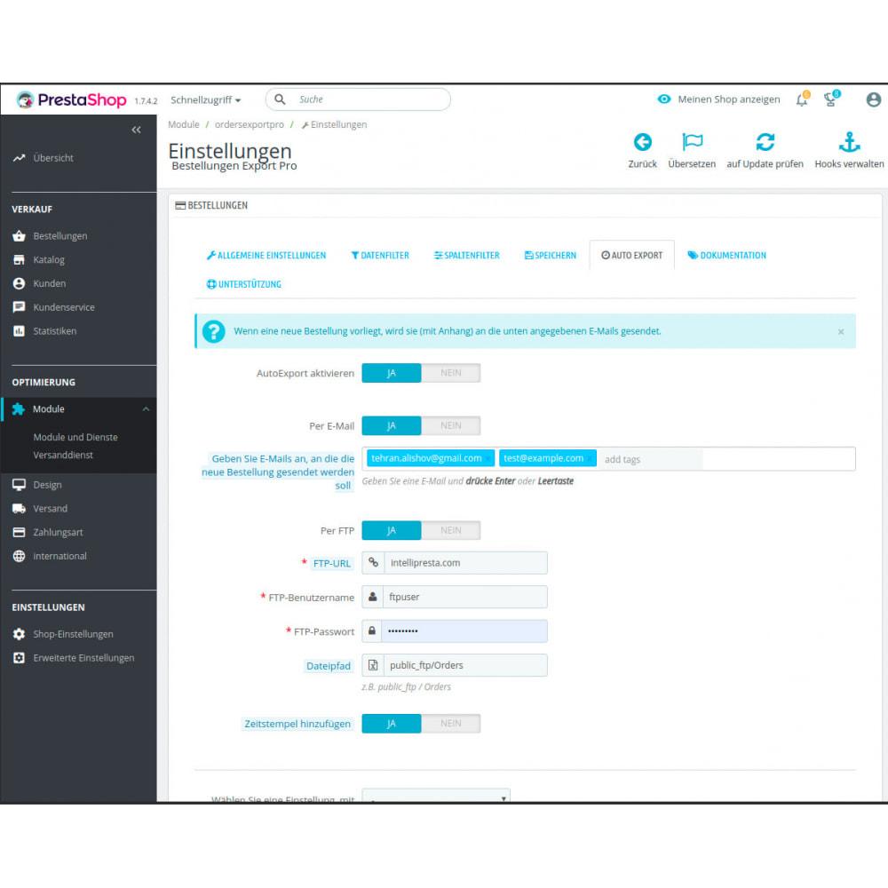 module - Daten Im-&Export - Bestellungen Export Pro (Excel, CSV,PDF,Cron,Email,FTP) - 5