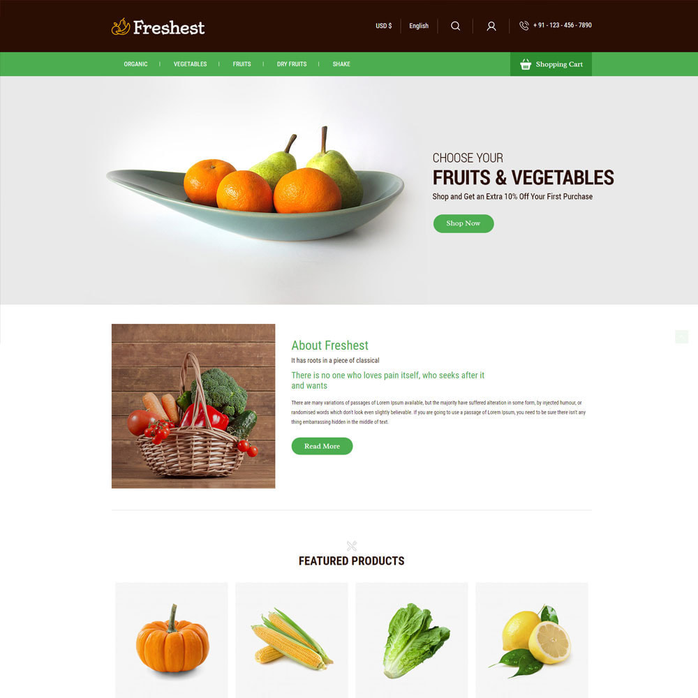 theme - Alimentos & Restaurantes - Fresh Fruits - Vegitables Grocery Store - 2