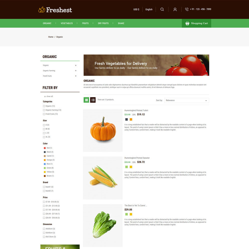 theme - Alimentos & Restaurantes - Fresh Fruits - Vegitables Grocery Store - 4