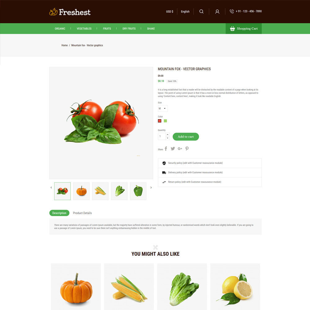 theme - Alimentos & Restaurantes - Fresh Fruits - Vegitables Grocery Store - 5