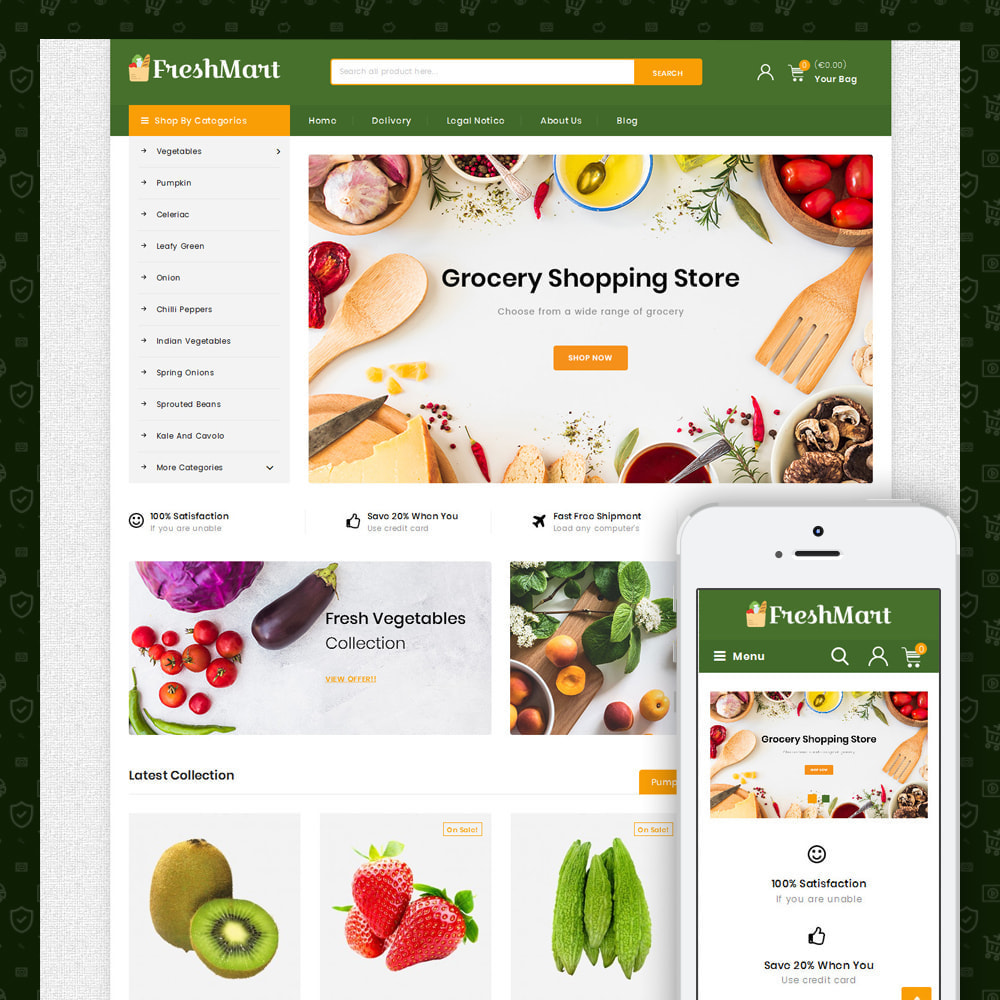 theme - Alimentos & Restaurantes - Farm Fresh - Super Market Store - 4