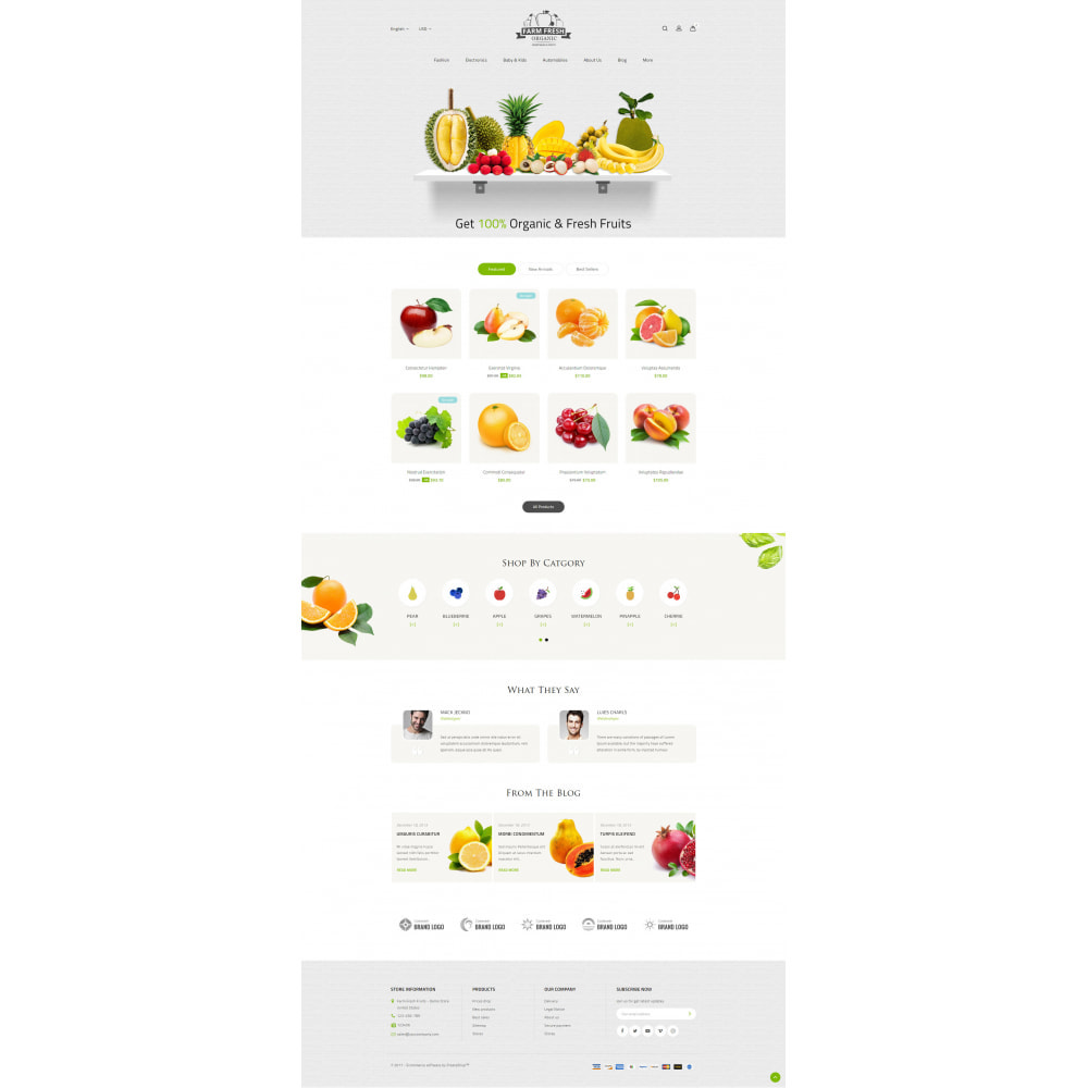 theme - Alimentos & Restaurantes - Farm Fresh - Super Market Store - 11