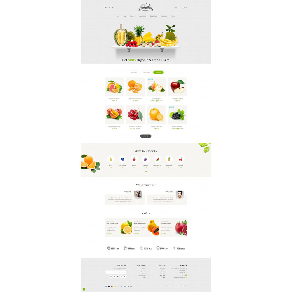 theme - Alimentos & Restaurantes - Farm Fresh - Super Market Store - 19
