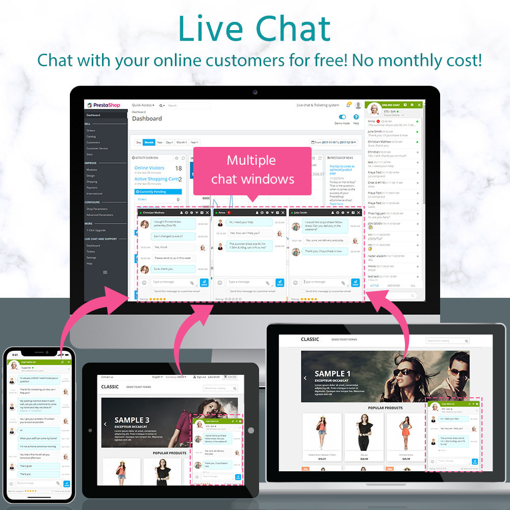 module - Ondersteuning & Online chat - Live Chat and Ticketing System - 1