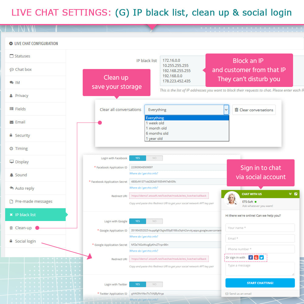 module - Ondersteuning & Online chat - Live Chat and Ticketing System - 11