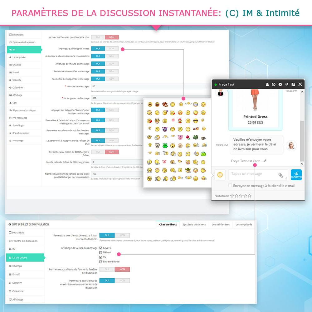 module - Support & Chat Online - Chat en direct et Système de tickets - 6