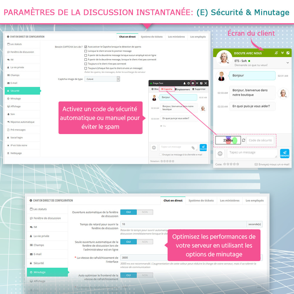module - Support & Chat Online - Chat en direct et Système de tickets - 8
