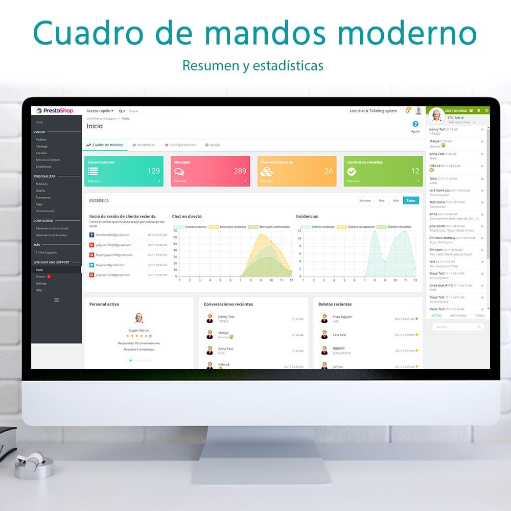 module - Asistencia & Chat online - Chat en directo y Sistema de incidencias - 3