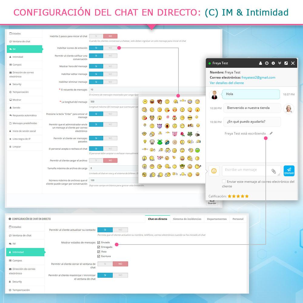 module - Asistencia & Chat online - Chat en directo y Sistema de incidencias - 6