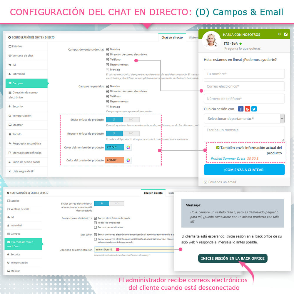 module - Asistencia & Chat online - Chat en directo y Sistema de incidencias - 7