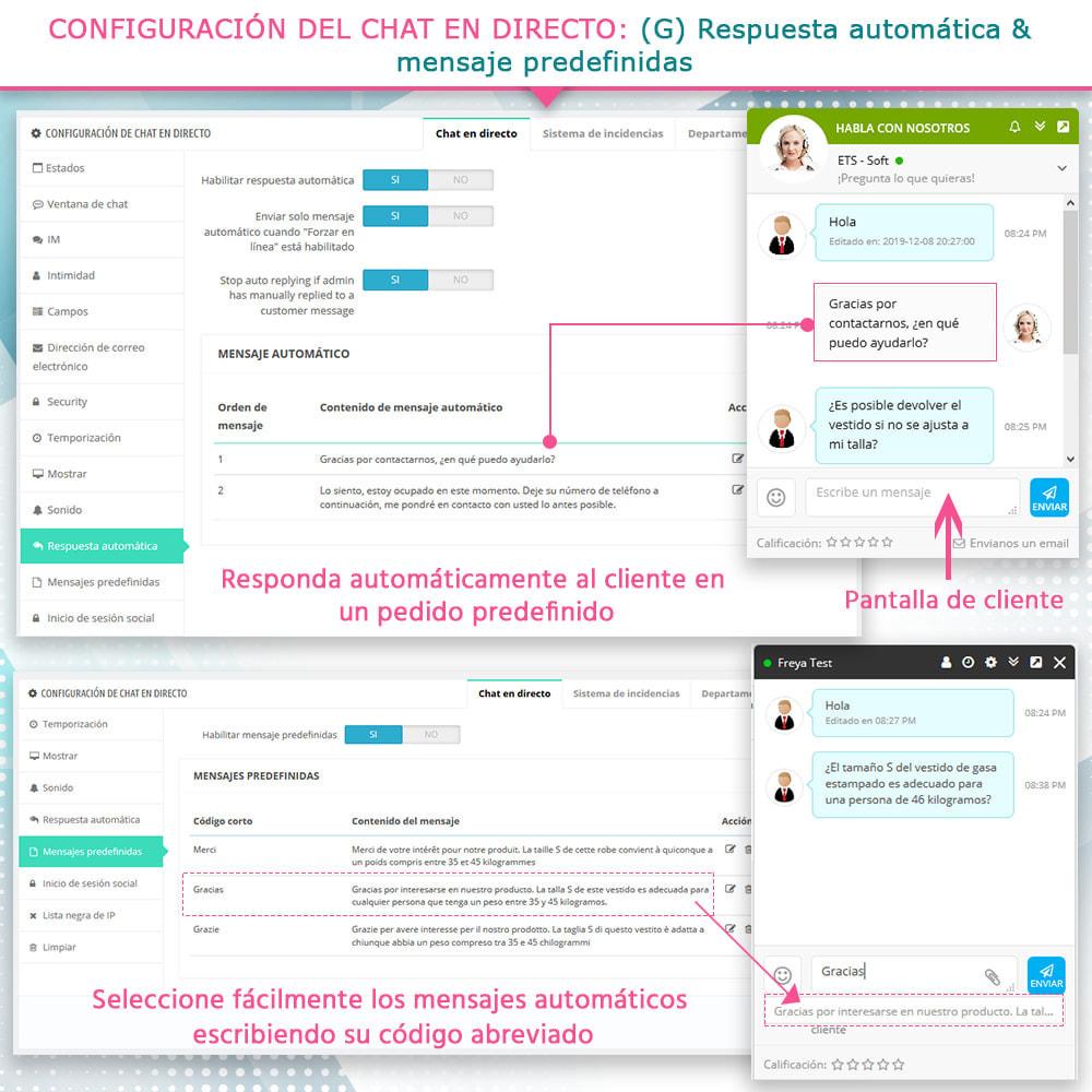 module - Asistencia & Chat online - Chat en directo y Sistema de incidencias - 10