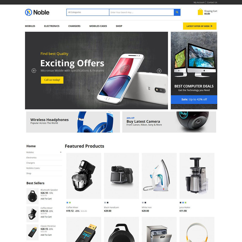 theme - Electronics & Computers - Mobile Electronics - Digital Computer Laptop Store - 2
