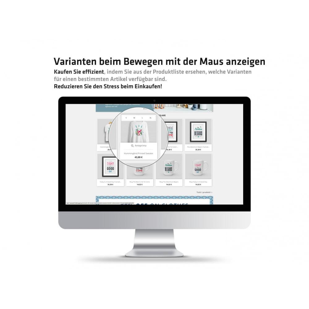 module - Bundels & Personalisierung - Varianten beim Bewegen mit der Maus anzeigen - 2