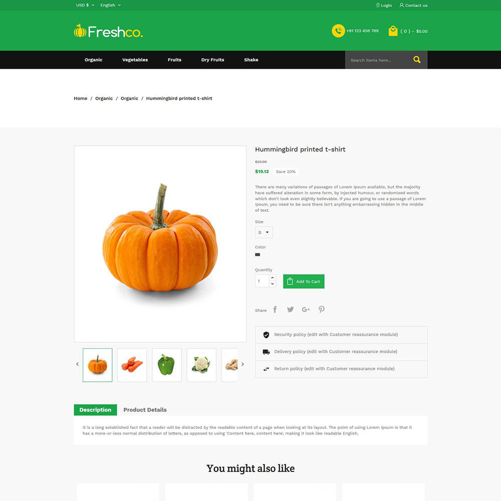 theme - Продовольствие и рестораны - Fresh Vegitables - Fruit Grocery Store - 6