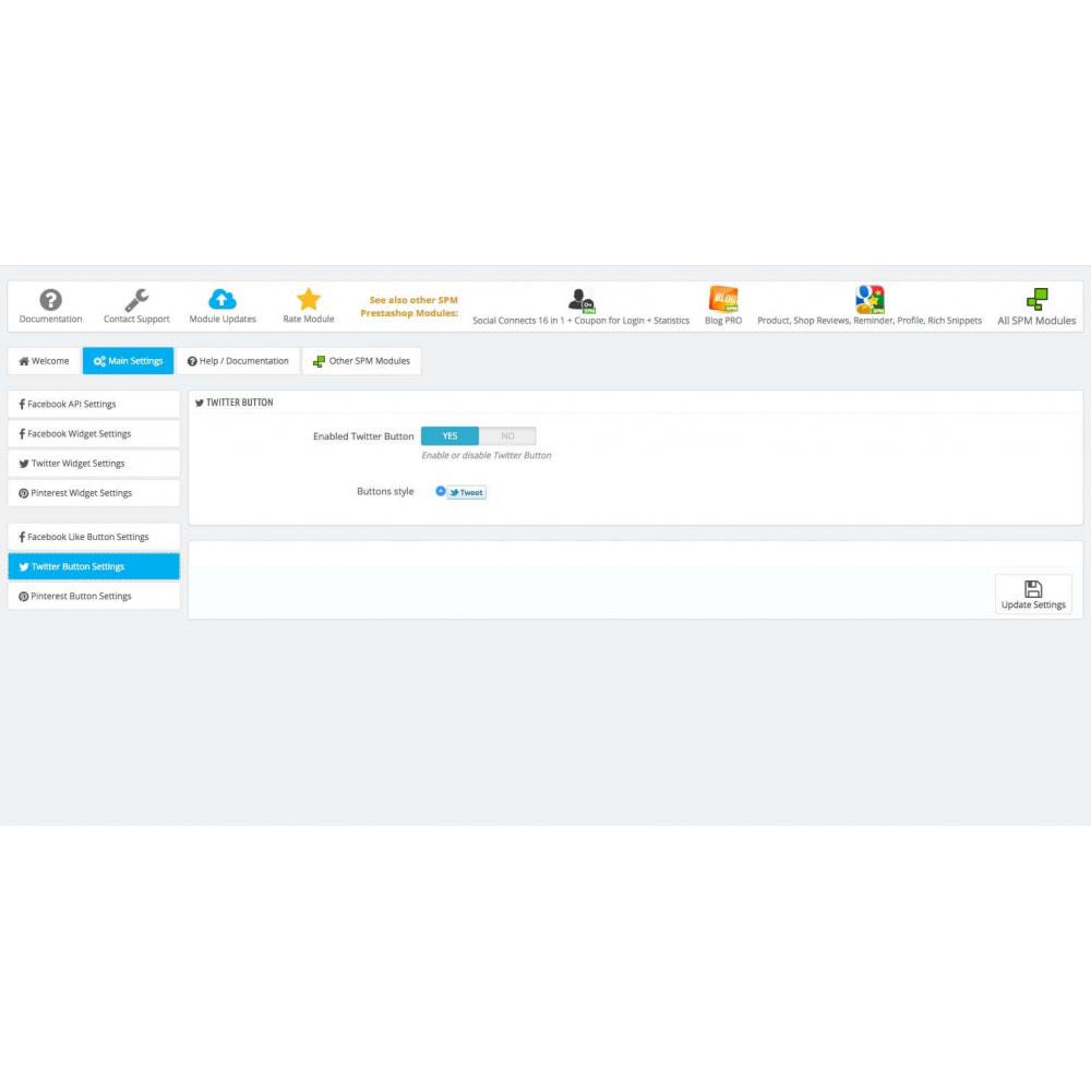 module - Social Widget - Social Widgets + Buttons 3 in 1 - 13