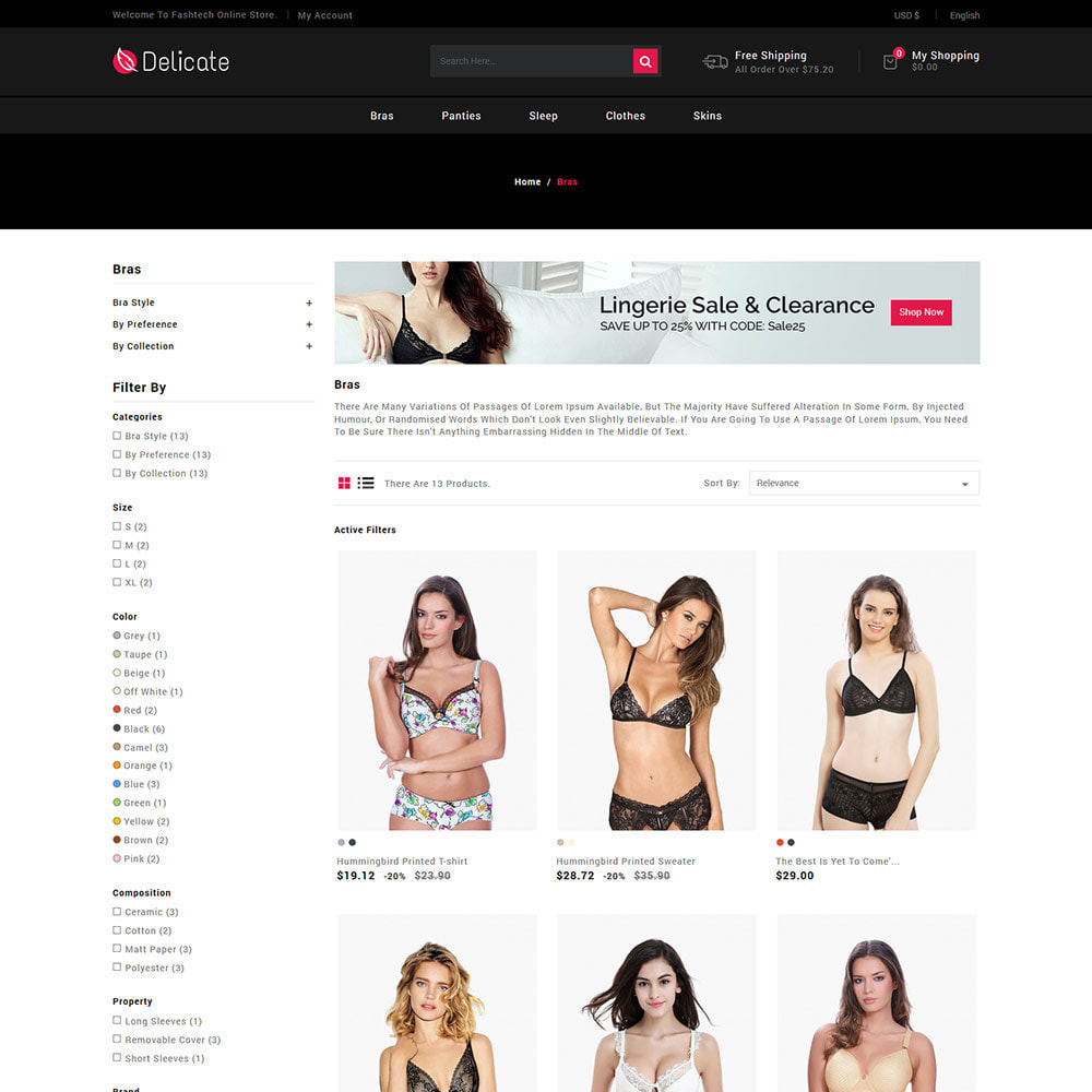 theme - Lingerie & Adult - Lingerie Underwear - Sleepwear Bra  Panties Store - 3
