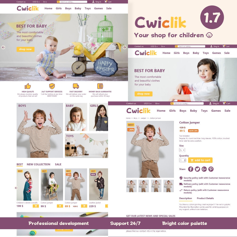 theme - Kids & Toys - Cwiclik - online store of children's clothing and toys - 1