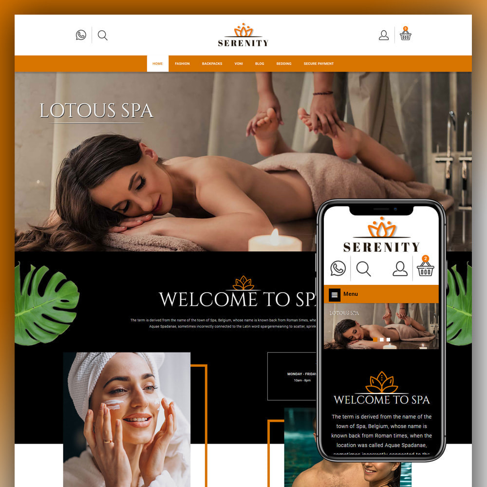 theme - Health & Beauty - Serenity - Spa Store - 1