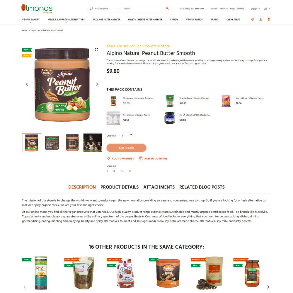 theme - Alimentation & Restauration - Almonds - Vegan Shop - 5