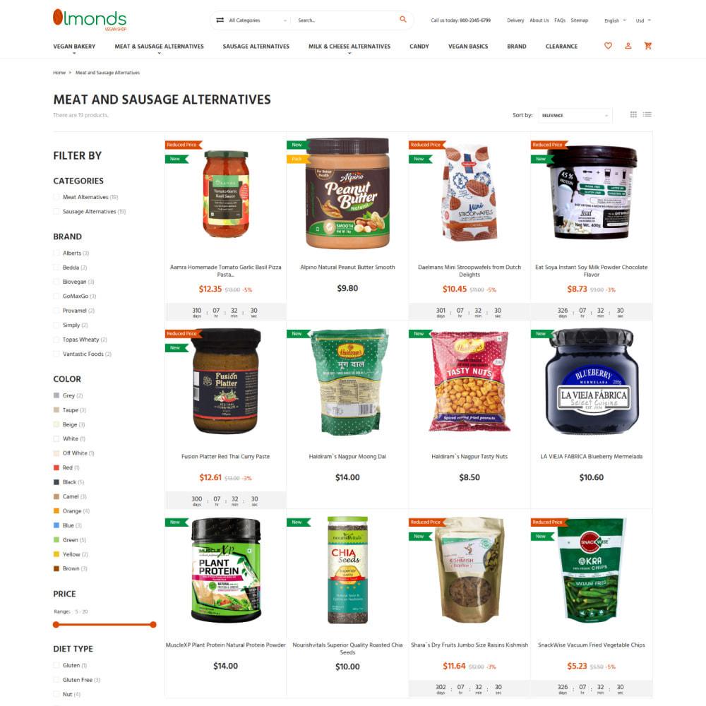 theme - Alimentation & Restauration - Almonds - Vegan Shop - 7