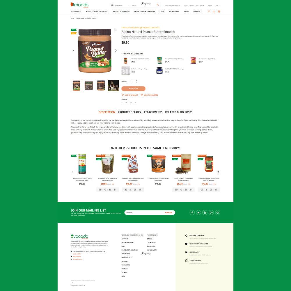 theme - Cibo & Ristorazione - Almonds - Vegan Shop - 6