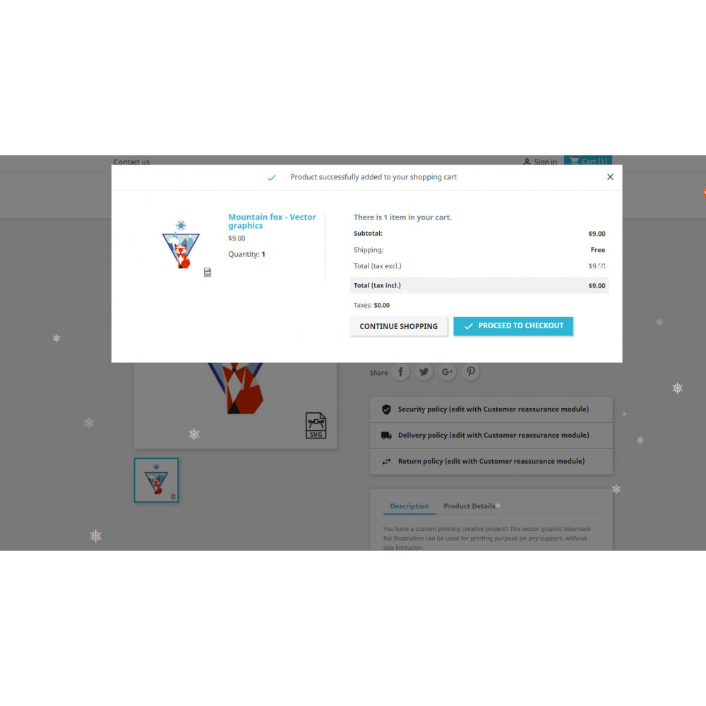 module - Page Customization - Christmas Snow - 3
