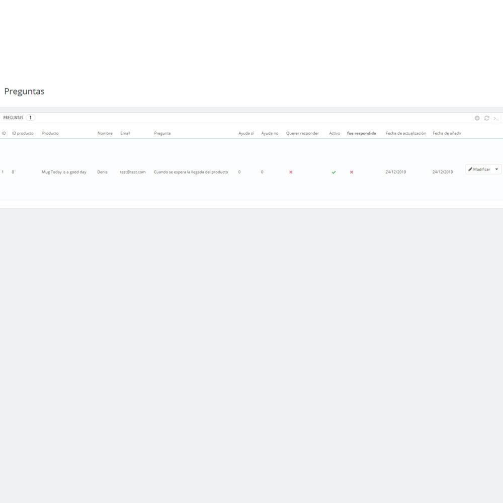 module - Preguntas Frecuentes - Pregunta respuesta en producto - 5