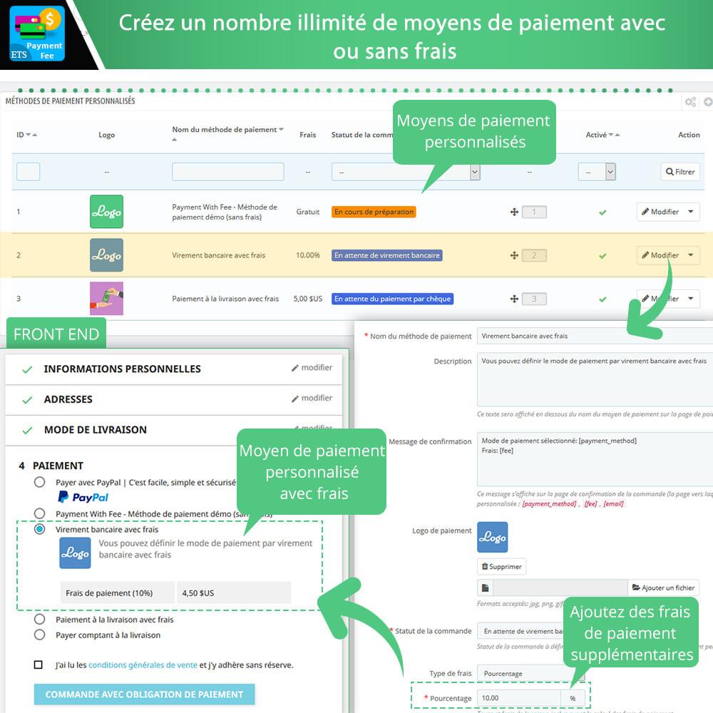 module - Autres moyens de paiement - Payment With Fee : PayPal, Stripe, virement, etc. - 3