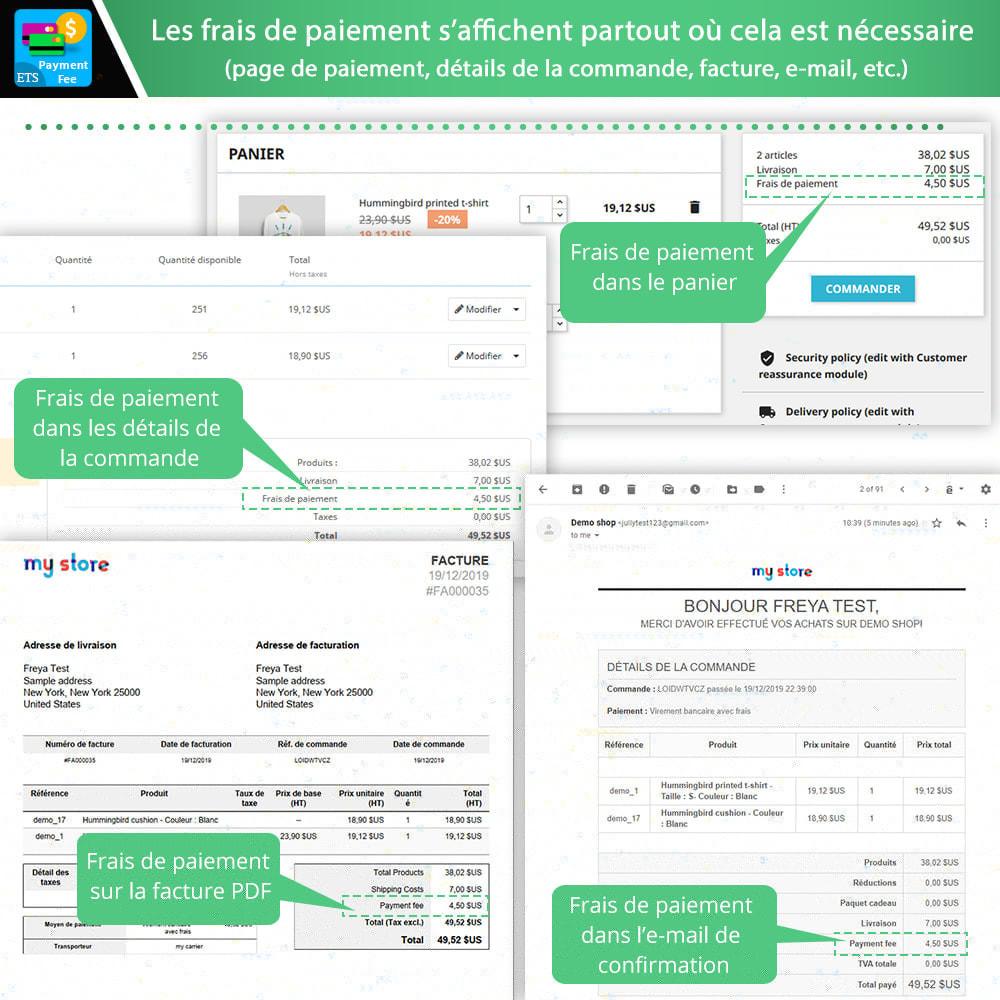 module - Autres moyens de paiement - Frais de paiement et méthode de paiement personnalisée - 5