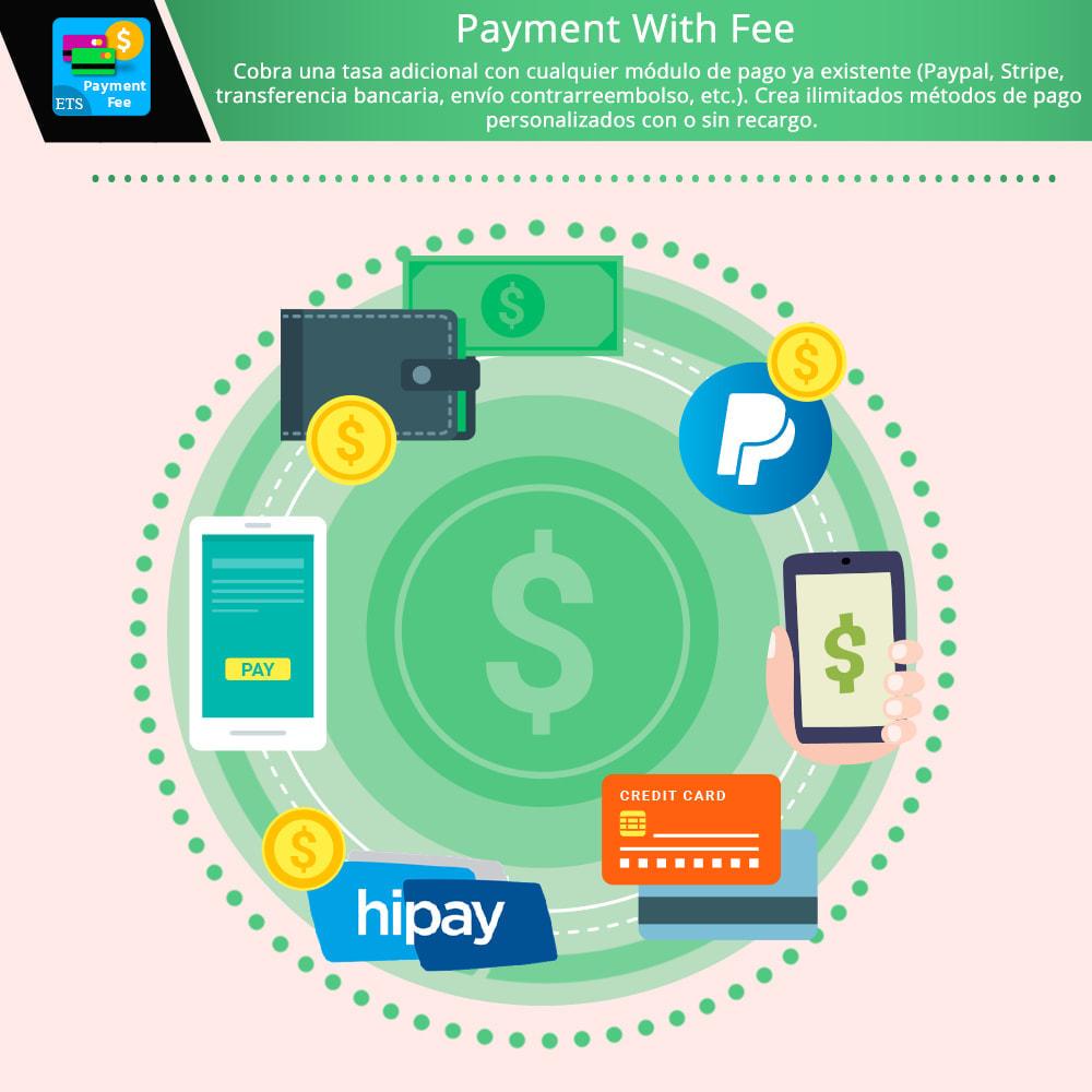 module - Otros métodos de pago - Payment With Fee: Paypal, Stripe, transferencia, etc. - 1