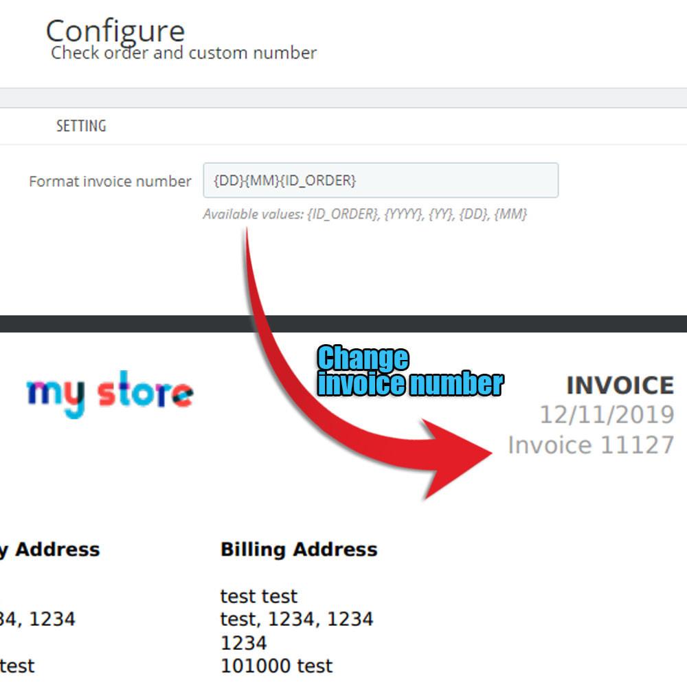 module - Procedury składania zamówień - Sprawdź kolejność i niestandardową kolejność numerów - 3