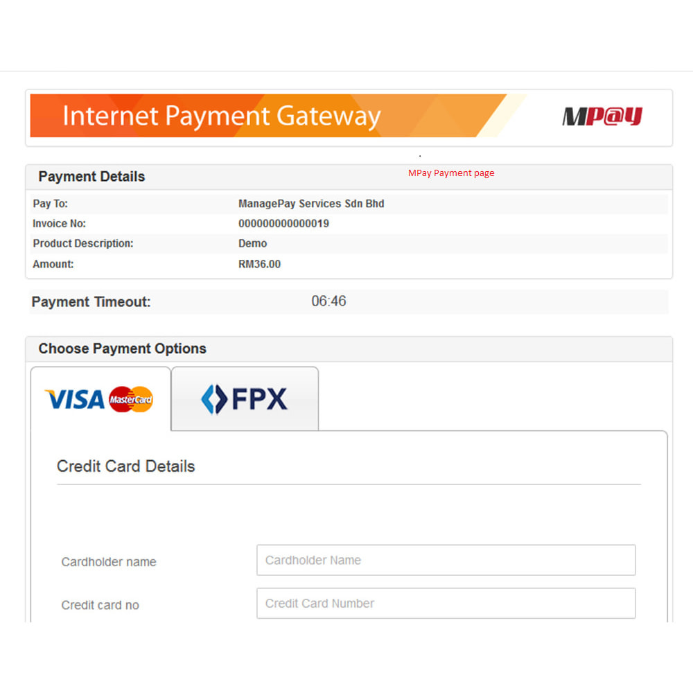 module - Payment by Card or Wallet - MPAY (ManagePay) - Malaysian Payment - 6