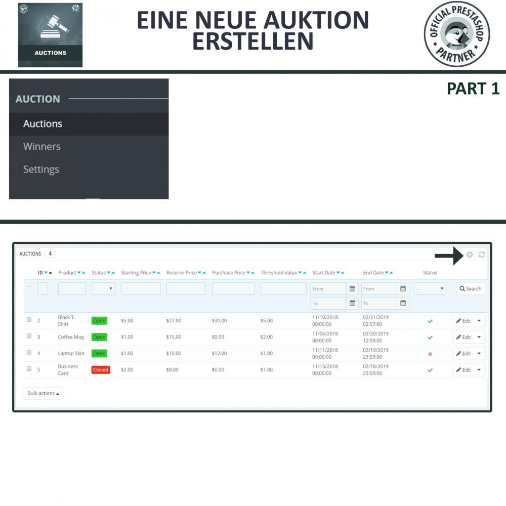 module - Auktionsseiten - Auktion Pro, Online-Auktions und Gebotsmanagement - 6