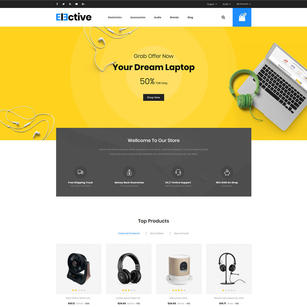 theme - Электроника и компьютеры - Elective Electronics Store - 2