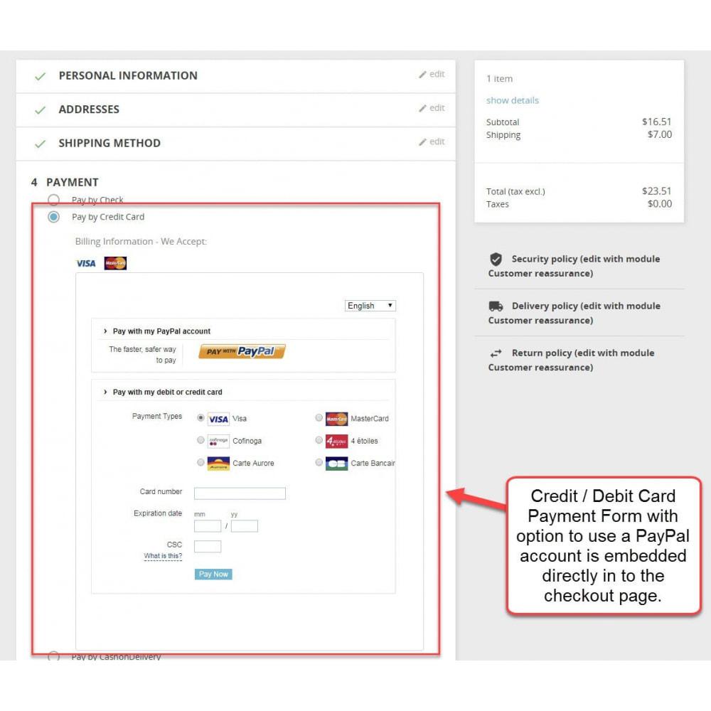 module - Pago con Tarjeta o Carteras digitales - PayPal Advanced - 1