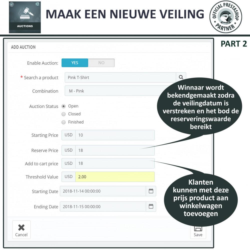 module - Bouw een veilingsite - Auction Pro, Online veilingen en biedingen - 13