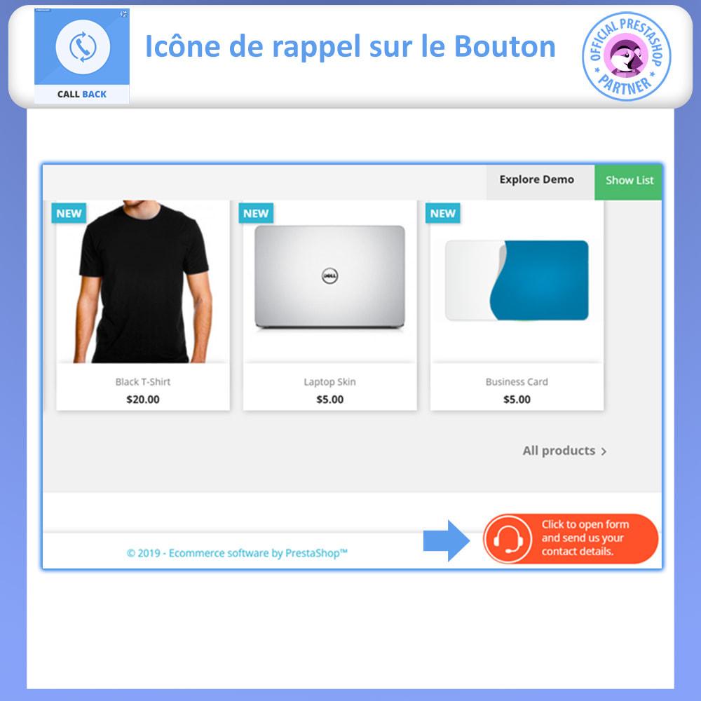 module - Support & Chat Online - Rappeler - Formulaire de rappel fixe et flottant - 2
