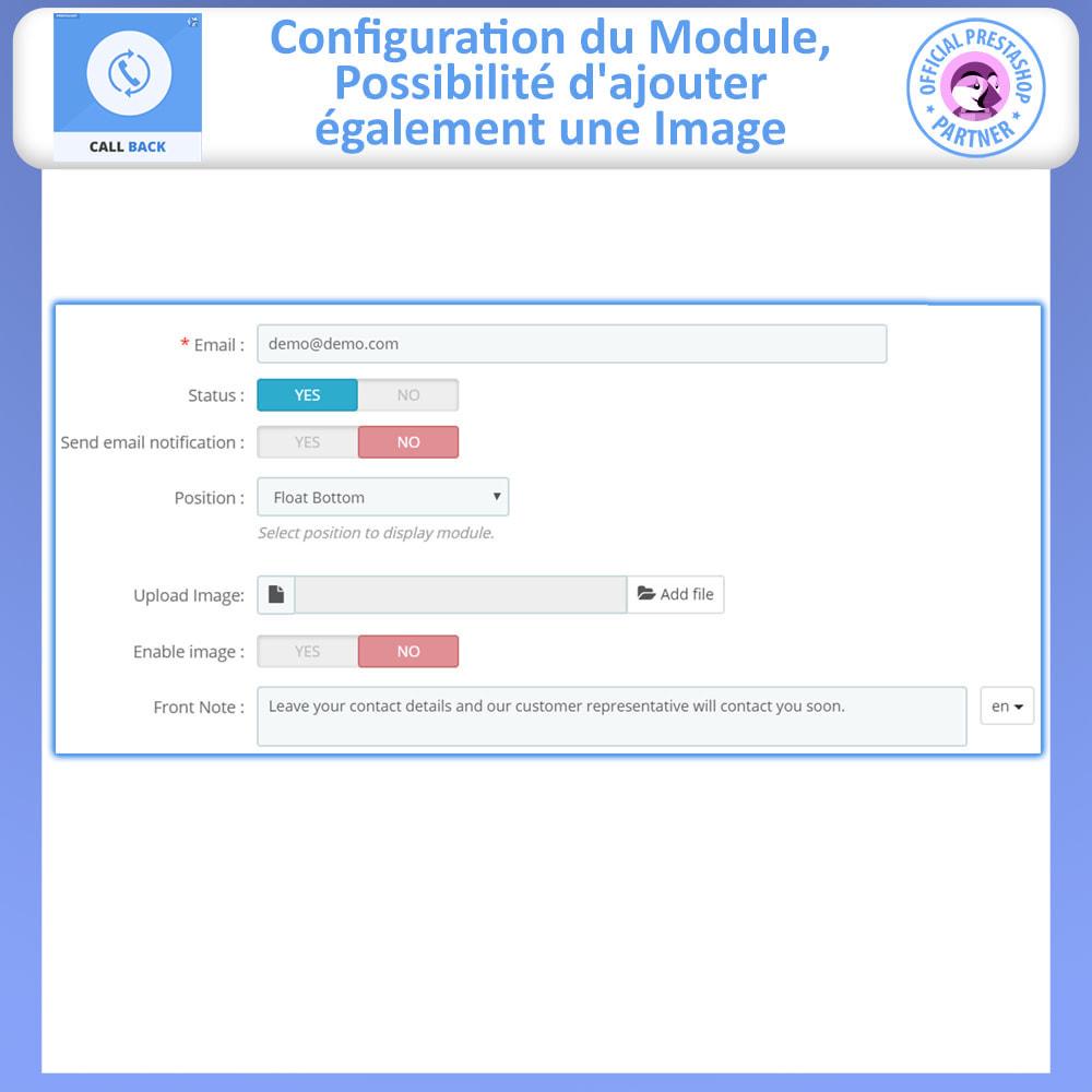 module - Support & Chat Online - Rappeler - Formulaire de rappel fixe et flottant - 5