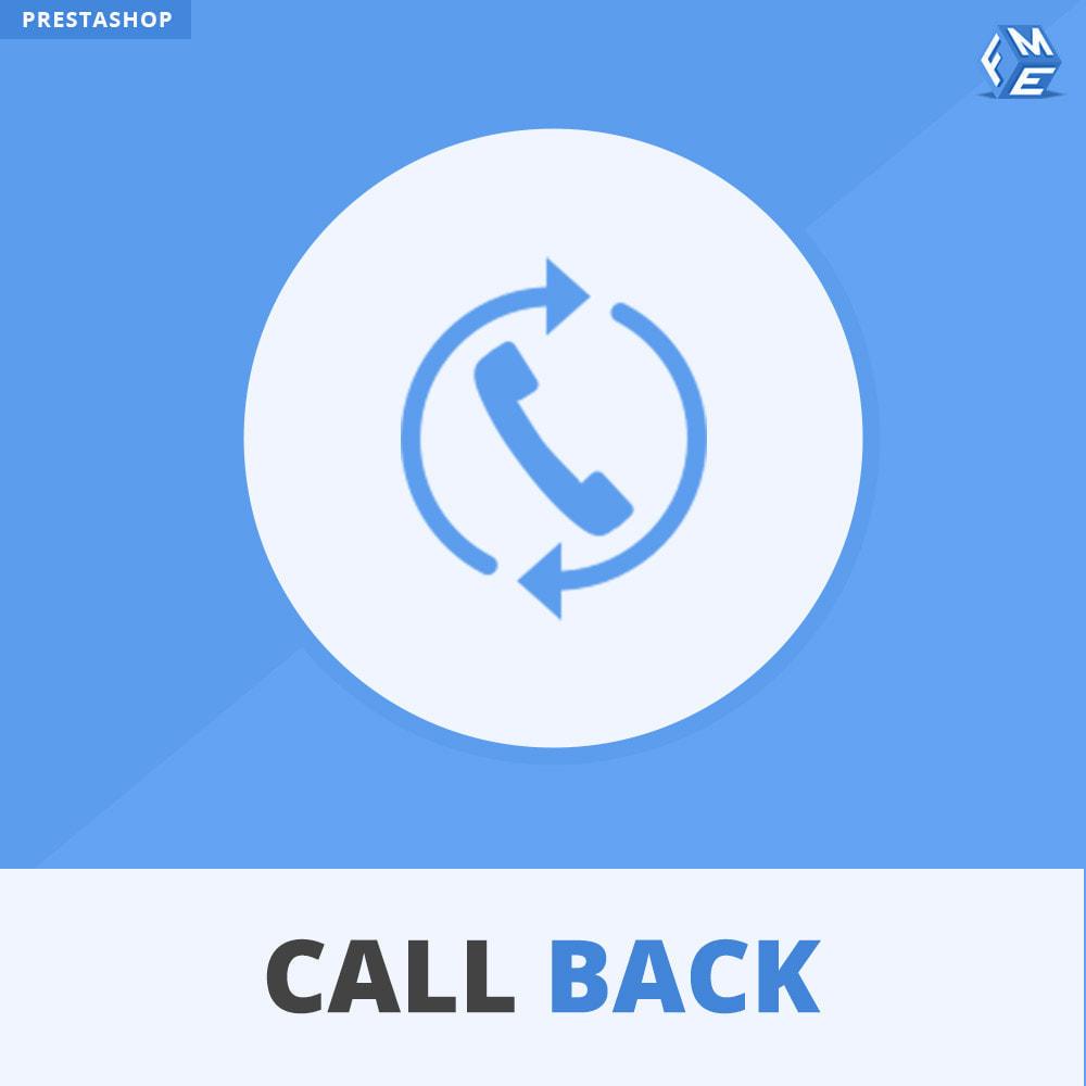 module - Support & Online-Chat - Rückruf – Fixiertes & Schwebendes Rückruf-Formular - 1