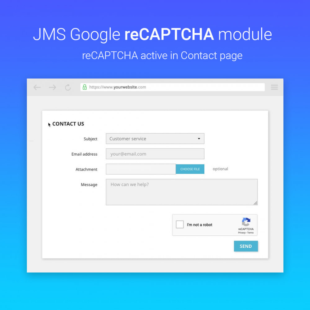 module - Sicherheit & Brechtigungen - JMS reCAPTCHA - Anti spam with invisible reCAPTCHA - 2