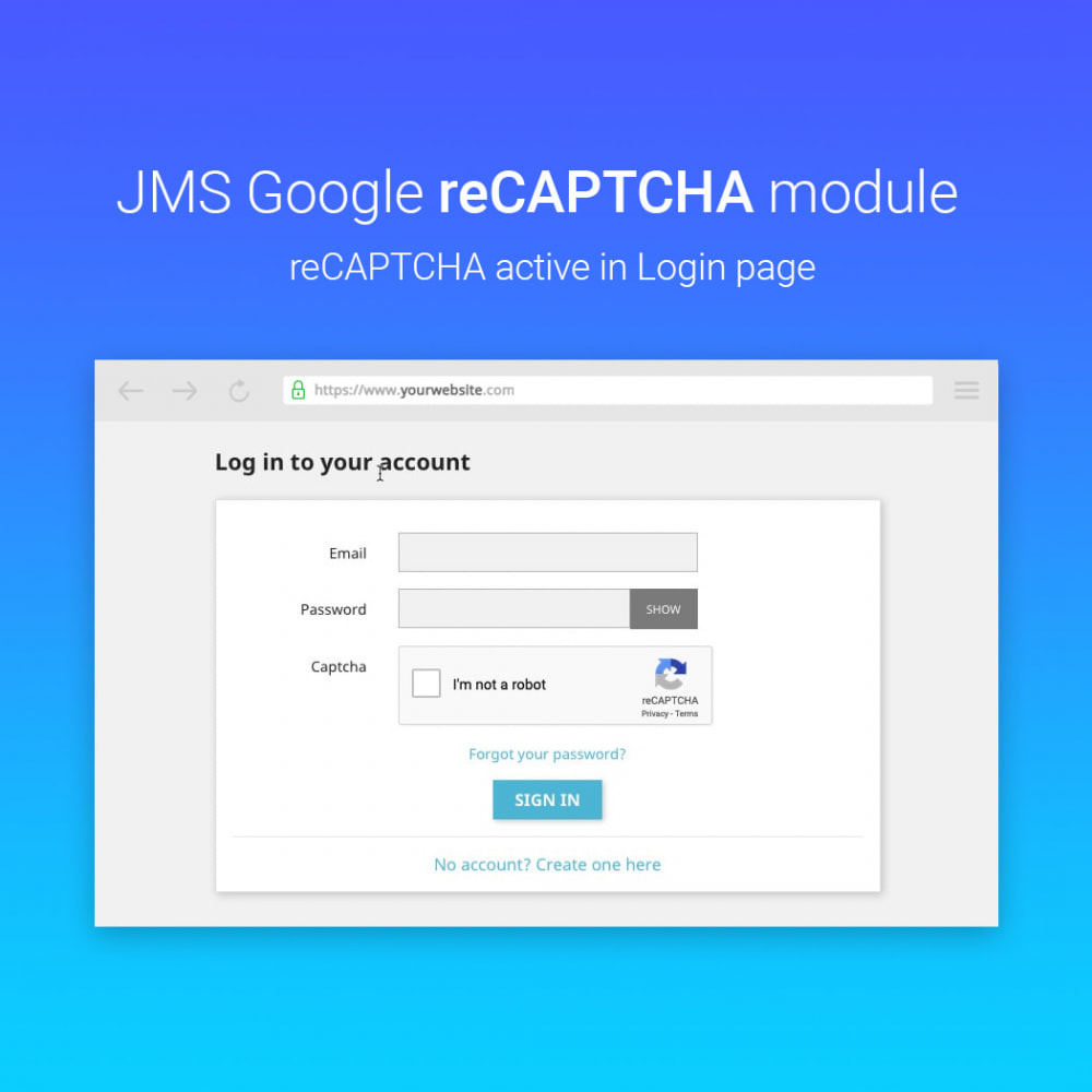 module - Sicherheit & Berechtigungen - JMS reCAPTCHA - Anti spam with invisible reCAPTCHA - 4