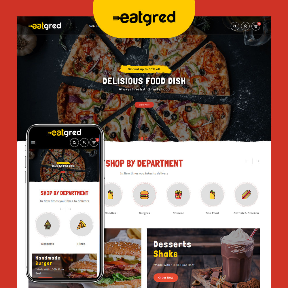 theme - Food & Restaurant - Eatgred - Food Store - 1