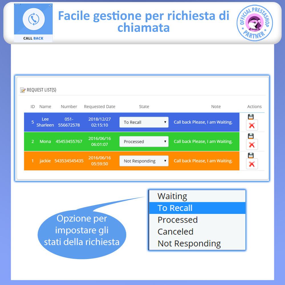 module - Supporto & Chat online - Call Back - Modulo di Richiamo Fisso e Mobile - 4