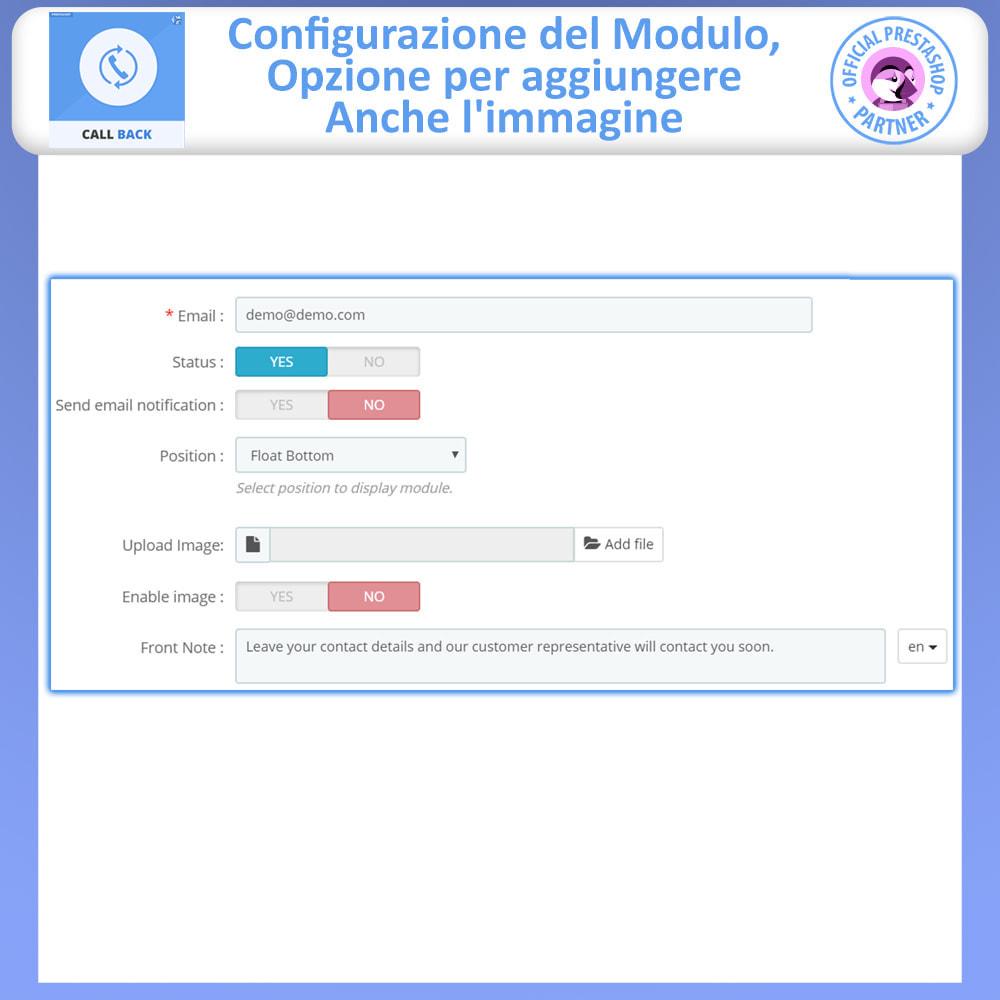 module - Supporto & Chat online - Call Back - Modulo di Richiamo Fisso e Mobile - 5
