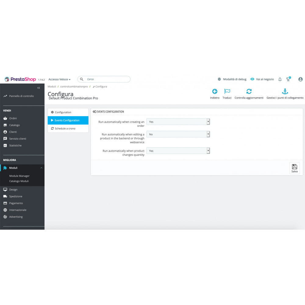 module - Combinaciones y Personalización de productos - Default Product Combination Pro - 2